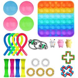24 st Fidget Toys Pack Sensory Pop it Stress Ball, Party Gift flerfärgad 24