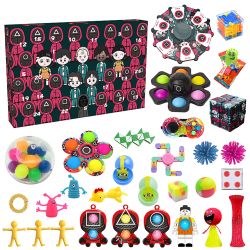 Squid Game Fidget Advent Calendar Toy för Halloween -jul