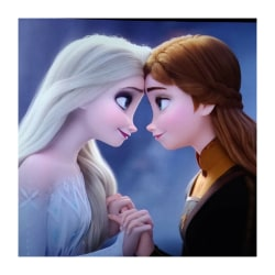 Frozen-Aisha och Anna Diamond målningssatser, hemväggsdekor blå