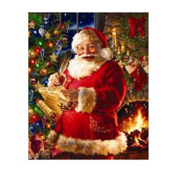 God julafton - Diamantmålningssatser, hemväggsdekor, 40x30 cm flerfärgad