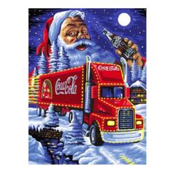 Julafton - Diamantmålningssatser, hemväggsdekor, 40x30 cm flerfärgad