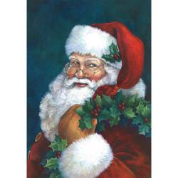 Jultomten Diamantmålningssatser, hemväggsdekor, 40x30 cm flerfärgad