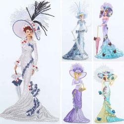 Rhinestone 5D Diamond Painting DIY Special Dress Lady Craft