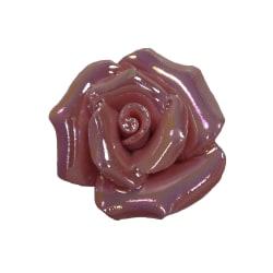10st Porslinspärlor Rosor 19mm - Rosa rosa 19 mm