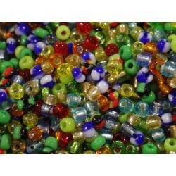 1100st Glaspärlor 2mm - Blandade Färger  flerfärgad
