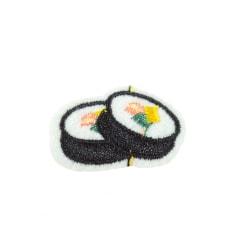 2st Tygmärken - Sushi - Storlek 3,5cm svart