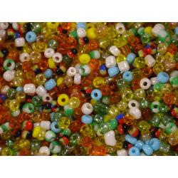 4400st Glaspärlor 2mm - Blandade Färger flerfärgad