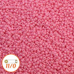 Miyuki seed beads 11/0, dyed opaque candy pink, 10g