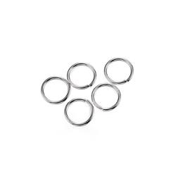 Öppna motringar av kirurgiskt stål, 4x0.5mm, 5g (ca 200st)