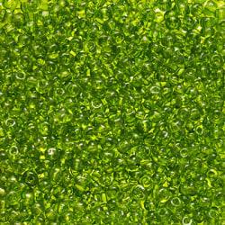 Seed beads, ca 4mm, gulgröna, 20g