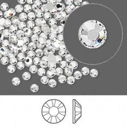 Swarovski flat back strass, 2.5-2.7mm, crystal clear, 10-pack