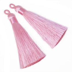 Tassels av polyester, ca 8cm, rosa, 2st