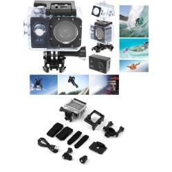 4K Ultra HD Actionkamera Vattentät WiFi Sportkamera + Tillbehör Svart