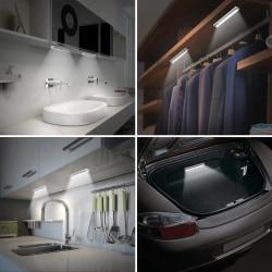 LED PIR lampa för Garderob Garderobsbelysning Skåp Vit