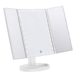 Sminkspegel med LED och Touch, 180 grader justerbar Vit