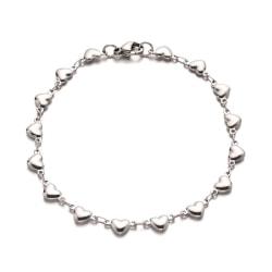 1 mini små hjärtan armband i stål