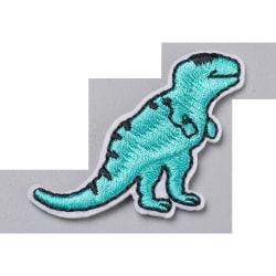 2 stryka sy på tygmärken dinosaurie