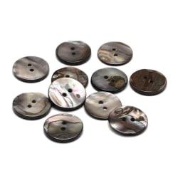 35 knappar 17 mm snäckskal gråa shimmer