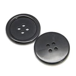 40 svarta knappar 4 hål till jacka kofta tröja 15 mm