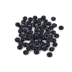 45 bullig svarta knappar ett hål