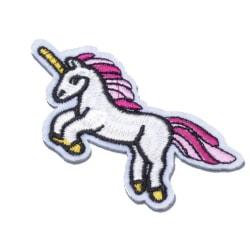5 unicorn broderade tygmärken stryka på