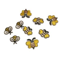 9 små söta bi mix stryka sy på tygmärken