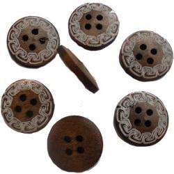 40 bruna knappar 4 hål syhobby
