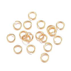 endast 3 mm ringöglor öppna guldfärg stål 450 st