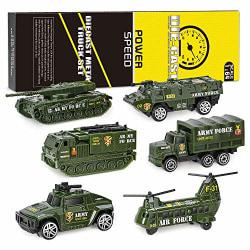 Leksaksbilar metall/plast - 6 pack - Militär Militär (grön)