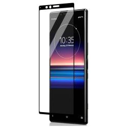 Sony Xperia 1 Heltäckande 3D Härdat Glas Skärmskydd 0,2mm Transparent