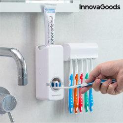 Tandkrämsdoserare med tandborsthållare