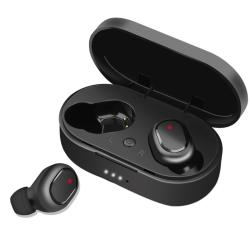 TWS Bluetooth Headset med Laddningsbox svart