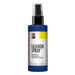 Textilfärg sprayflaska Marabu Fashion Spray 100ml Night Blue 293 Mörkblå