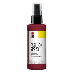 Textilfärg sprayflaska Marabu Fashion Spray 100ml Bordeaux (034) Mörkröd
