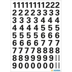 Märketikett Herma Vario 4159 Siffror 0-9, 10mm, Svart, 1 ark/fp Svart