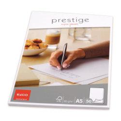Brevblock Elco Prestige Brevblock A5, 50 ark/fp Vit