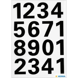Märketikett Herma Vario 4168 Siffror 0-9 25mm, Svart, 2 ark/fp Svart