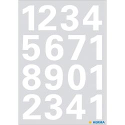 Märketikett Herma Vario 4170 Siffror 0-9 25mm, Vit, 1 ark/fp Vit