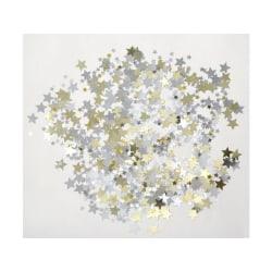 Paljetter, Mix av Stjärnor, Guld & Silver, 10 & 18mm, ca 100gram multifärg