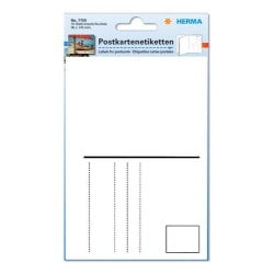 Vykortsetiketter 100x150mm - Gör dina egna vykort 10/fp Vit