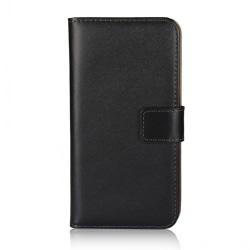 Plånboksfodral iPhone 11 Pro, äkta skinn Svart