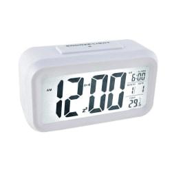 ISO väckarklocka Digital med termometer Vit Vit