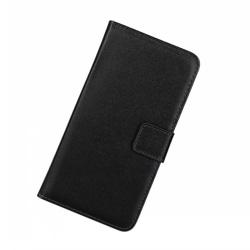 Plånboksfodral Sony Xperia 1, Äkta skinn Svart