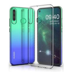 Skal i genomskinligt gummi, Huawei P40 Lite E Transparent