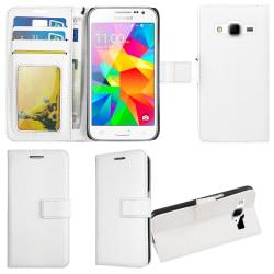 Plånboksfodral Samsung Core Prime, 2 kort + ID Vit