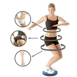 Höftträningsplatta - med fotmassage Blå