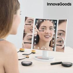 InnovaGoods 4-i-1 förstorande LED-spegel Vit
