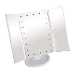 Spegel med LED ljus - Förstorande 3-i-1 Vit