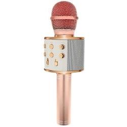 Karaoke mikrofon med högtalare Rosa guld
