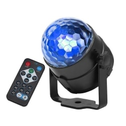 LED-discokula med fjärrkontroll Svart
